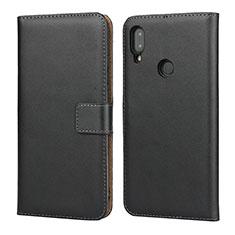 Coque Clapet Portefeuille Livre Cuir L04 pour Xiaomi Redmi Note 7 Noir