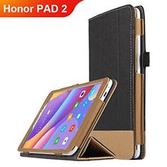 Coque Clapet Portefeuille Livre Cuir L05 pour Huawei Honor Pad 2 Noir