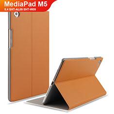 Coque Clapet Portefeuille Livre Cuir L05 pour Huawei MediaPad M5 8.4 SHT-AL09 SHT-W09 Marron