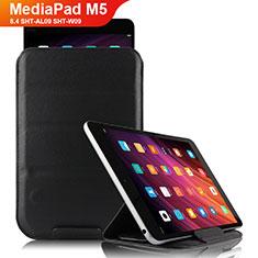 Coque Clapet Portefeuille Livre Cuir L06 pour Huawei MediaPad M5 8.4 SHT-AL09 SHT-W09 Noir