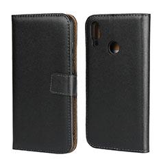 Coque Clapet Portefeuille Livre Cuir L07 pour Huawei Honor 10 Lite Noir