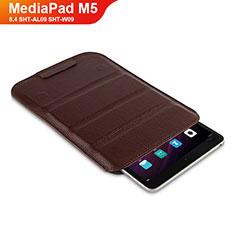Coque Clapet Portefeuille Livre Cuir L07 pour Huawei MediaPad M5 8.4 SHT-AL09 SHT-W09 Marron
