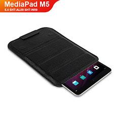 Coque Clapet Portefeuille Livre Cuir L07 pour Huawei MediaPad M5 8.4 SHT-AL09 SHT-W09 Noir