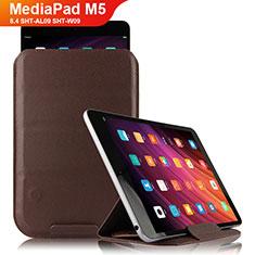 Coque Clapet Portefeuille Livre Cuir L09 pour Huawei MediaPad M5 8.4 SHT-AL09 SHT-W09 Marron