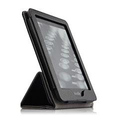 Coque Clapet Portefeuille Livre Cuir pour Amazon Kindle Paperwhite 6 inch Noir