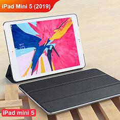 Coque Clapet Portefeuille Livre Cuir pour Apple iPad Mini 5 (2019) Noir
