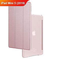 Coque Clapet Portefeuille Livre Cuir pour Apple iPad Mini 5 (2019) Or Rose