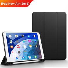 Coque Clapet Portefeuille Livre Cuir pour Apple iPad New Air (2019) 10.5 Noir