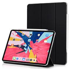 Coque Clapet Portefeuille Livre Cuir pour Apple iPad Pro 11 (2018) Noir