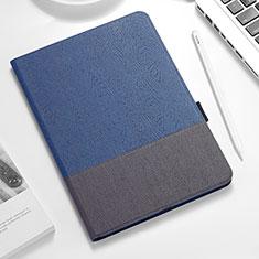 Coque Clapet Portefeuille Livre Cuir pour Apple iPad Pro 12.9 (2018) Bleu et Noir