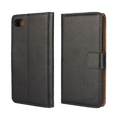 Coque Clapet Portefeuille Livre Cuir pour Blackberry Z30 Noir