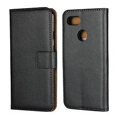 Coque Clapet Portefeuille Livre Cuir pour Google Pixel 3 Noir