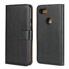 Coque Clapet Portefeuille Livre Cuir pour Google Pixel 3 XL Noir