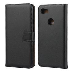 Coque Clapet Portefeuille Livre Cuir pour Google Pixel 3a XL Noir