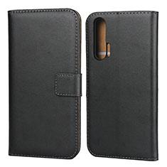 Coque Clapet Portefeuille Livre Cuir pour Huawei Honor 20 Pro Noir