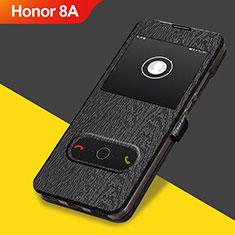 Coque Clapet Portefeuille Livre Cuir pour Huawei Honor 8A Noir