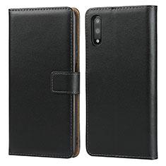 Coque Clapet Portefeuille Livre Cuir pour Huawei Honor 9X Noir