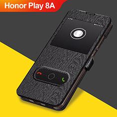 Coque Clapet Portefeuille Livre Cuir pour Huawei Honor Play 8A Noir