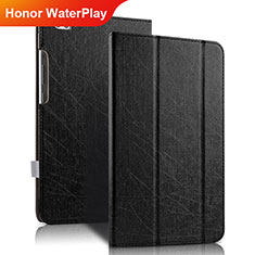 Coque Clapet Portefeuille Livre Cuir pour Huawei Honor WaterPlay 10.1 HDN-W09 Noir