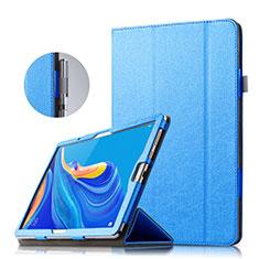 Coque Clapet Portefeuille Livre Cuir pour Huawei MatePad 10.8 Bleu