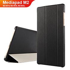 Coque Clapet Portefeuille Livre Cuir pour Huawei Mediapad M2 8 M2-801w M2-803L M2-802L Noir