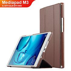 Coque Clapet Portefeuille Livre Cuir pour Huawei Mediapad M3 8.4 BTV-DL09 BTV-W09 Marron