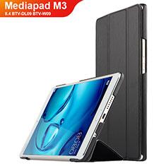 Coque Clapet Portefeuille Livre Cuir pour Huawei Mediapad M3 8.4 BTV-DL09 BTV-W09 Noir