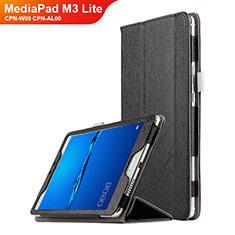 Coque Clapet Portefeuille Livre Cuir pour Huawei MediaPad M3 Lite 8.0 CPN-W09 CPN-AL00 Noir
