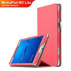 Coque Clapet Portefeuille Livre Cuir pour Huawei MediaPad M3 Lite 8.0 CPN-W09 CPN-AL00 Rouge