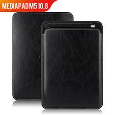 Coque Clapet Portefeuille Livre Cuir pour Huawei MediaPad M5 10.8 Noir