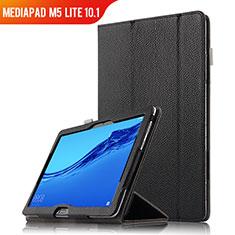 Coque Clapet Portefeuille Livre Cuir pour Huawei MediaPad M5 Lite 10.1 Noir