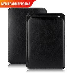 Coque Clapet Portefeuille Livre Cuir pour Huawei MediaPad M5 Pro 10.8 Noir