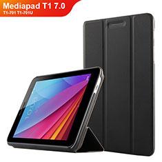 Coque Clapet Portefeuille Livre Cuir pour Huawei Mediapad T1 7.0 T1-701 T1-701U Noir