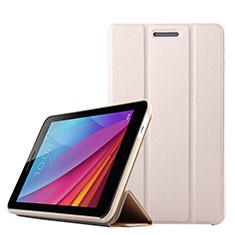 Coque Clapet Portefeuille Livre Cuir pour Huawei Mediapad T1 7.0 T1-701 T1-701U Or