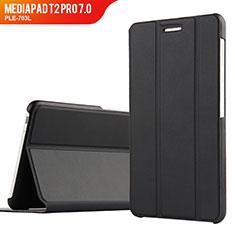 Coque Clapet Portefeuille Livre Cuir pour Huawei MediaPad T2 Pro 7.0 PLE-703L Noir
