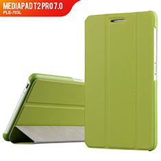 Coque Clapet Portefeuille Livre Cuir pour Huawei MediaPad T2 Pro 7.0 PLE-703L Vert