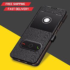 Coque Clapet Portefeuille Livre Cuir pour Huawei Y6 (2019) Noir