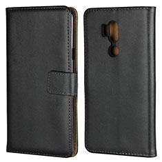 Coque Clapet Portefeuille Livre Cuir pour LG G7 Noir