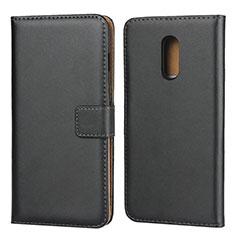Coque Clapet Portefeuille Livre Cuir pour OnePlus 7 Noir
