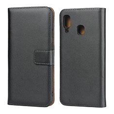 Coque Clapet Portefeuille Livre Cuir pour Samsung Galaxy A30 Noir