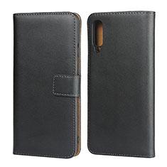 Coque Clapet Portefeuille Livre Cuir pour Samsung Galaxy A50 Noir