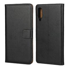 Coque Clapet Portefeuille Livre Cuir pour Samsung Galaxy A70 Noir
