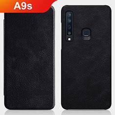 Coque Clapet Portefeuille Livre Cuir pour Samsung Galaxy A9s Noir