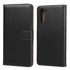Coque Clapet Portefeuille Livre Cuir pour Samsung Galaxy Note 10 5G Noir