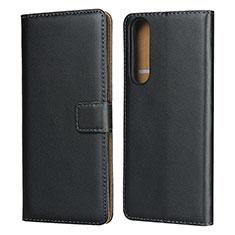 Coque Clapet Portefeuille Livre Cuir pour Sony Xperia 1 II Noir
