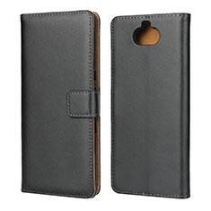 Coque Clapet Portefeuille Livre Cuir pour Sony Xperia 10 Plus Noir
