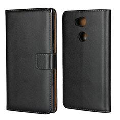 Coque Clapet Portefeuille Livre Cuir pour Sony Xperia L2 Noir