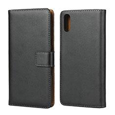 Coque Clapet Portefeuille Livre Cuir pour Sony Xperia L3 Noir