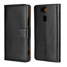 Coque Clapet Portefeuille Livre Cuir pour Sony Xperia XA2 Plus Noir