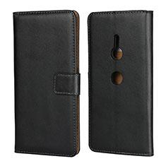 Coque Clapet Portefeuille Livre Cuir pour Sony Xperia XZ3 Noir